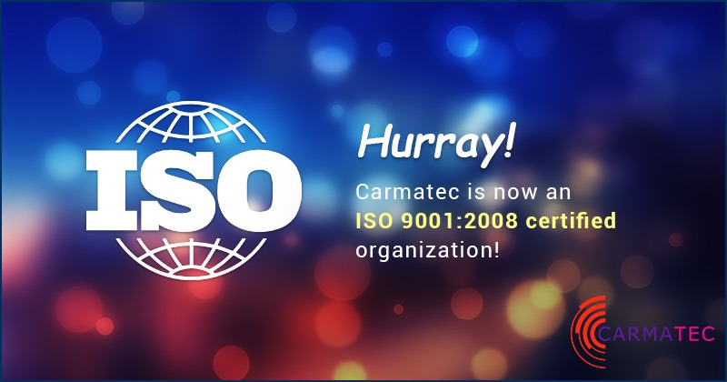 Carmatec Achieves ISO 9001:2008 Quality Management System Certification