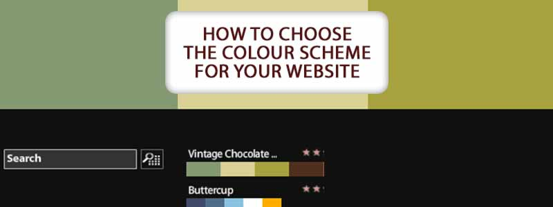 How to choose the colour scheme for your website