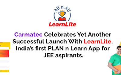 Carmatec Celebrates Yet Another Successful Launch With LearnLite, India's first PLAN n Learn App for JEE aspirants.