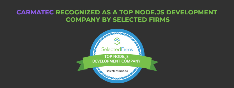 Carmatec Recognized as a Top Node.js Development Company By Selected Firms